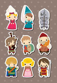 Cartoon Medieval stickers — Vettoriale Stock