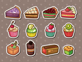 Cake stickers — Stock Vector