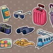 Stok Vektör: Travel stickers