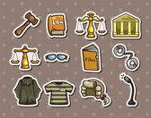 Law stickers — Stock Vector
