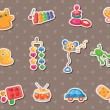 Baby toy stickers — Stock Vector #13897500