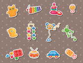 Baby toy stickers — Stock Vector