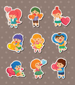 Kid love stickers — Stock Vector