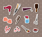 Hairdressing KIT stickers — Stock Vector