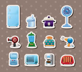 Home appliances stickers — Stock Vector