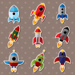 Spaceship stickers — Stock Vector #13924816