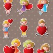 Royalty-Free Stock Векторное изображение: Kid love stickers