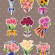 Cartoon flower stickers — Stock Vector #13961400