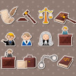 Vector de stock : Law stickers