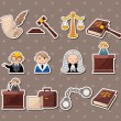 Law stickers — Vector de stock #13961403