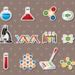 Science stickers — Vektorgrafik