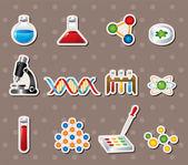 Etiquetas engomadas de la ciencia — Vector de stock