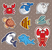 Fish stickers — Vector de stock