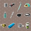 Royalty-Free Stock Vector Image: Camping tools stickers