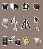 Photographic equipment stickers — Stock Vector