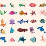 Cartoon fish icon — Stock Vector #14433265