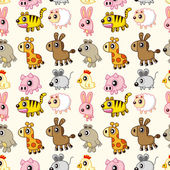 Seamless animal pattern — Stock Vector