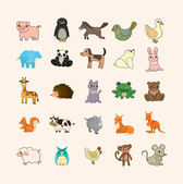 Set of animal icons — Stock Vector