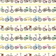 Seamless bicycle pattern — Stock Vector