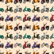 Seamless motorcycle pattern — Stock Vector #15433293