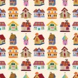 Royalty-Free Stock Vector Image: Seamless house pattern