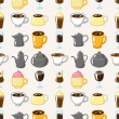 Seamless coffee pattern — Stock Vector
