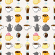 Seamless coffee pattern — Stock Vector #15594399