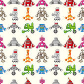 Seamless Robot pattern — Stockvektor