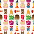 Seamless birthday pattern — Stock Vector