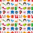 Seamless baby toy pattern — Stock Vector #15998725