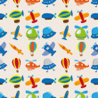 Royalty-Free Stock Vector Image: Seamless airplane pattern