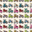 Постер, плакат: Seamless motorcycles pattern