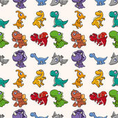 Seamless Dinosaurs pattern — Stock Vector