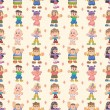 Seamless child pattern — Stock Vector