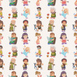 Seamless family pattern - Imagens vectoriais em stock