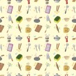 Seamless Kitchen pattern - Stock Vector