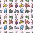 Royalty-Free Stock Vector Image: Seamless motorcycles pattern