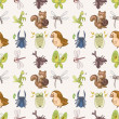 Seamless summer animal pattern — Stock Vector #16885295