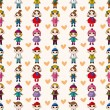 Royalty-Free Stock Vector Image: Seamless child pattern