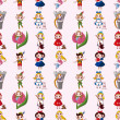 Vector de stock : Cartoon story seamless pattern