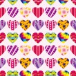 Seamless heart pattern — Stock Vector #17128101