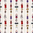 Seamless medieval pattern - Stok Vektr
