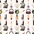 Stock Vector: Seamless makeup pattern