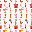 Seamless circus pattern — Stock Vector #17552589