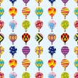 Royalty-Free Stock Vector Image: Seamless hot air balloon pattern