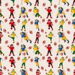 Seamless football pattern — Stock Vector #18098313