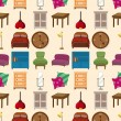 Royalty-Free Stock Vector Image: Seamless furniture pattern