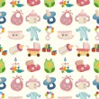 Seamless baby toy pattern — Stock Vector
