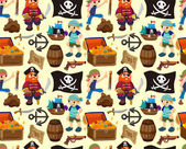 Seamless pirate pattern — Stock Vector