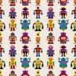 Royalty-Free Stock Vector Image: Seamless Robot pattern
